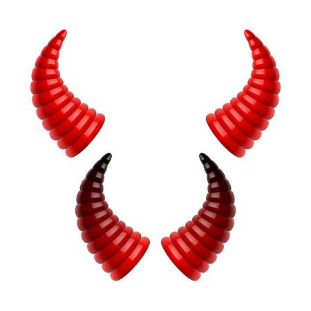 red devil: Devil s horns Illustration