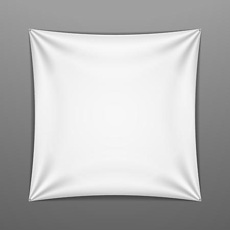 or blanc: Blanc étiré forme carrée avec des plis