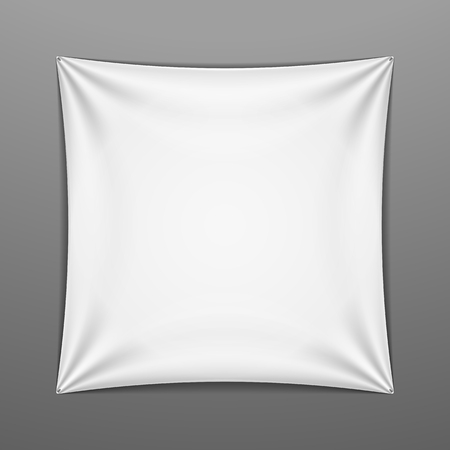 White stretched square shape with folds Vector