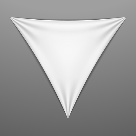 elongated: White stretched pentagonal shape with folds