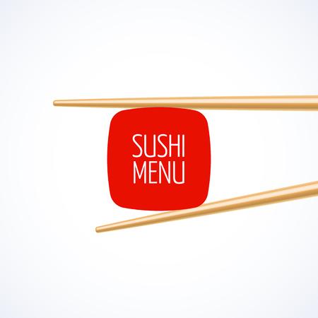modèle de menu de couverture de Sushi