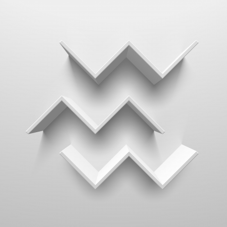 White birds shelves Vector