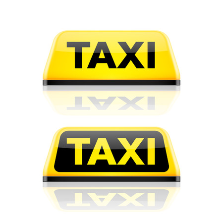 fare: Taxi car roof sign