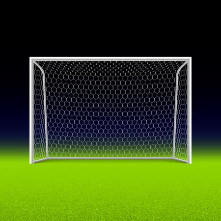 cancha de futbol: Meta del f�tbol en negro
