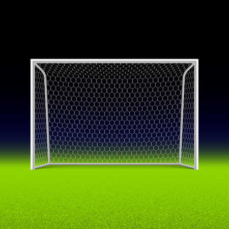 soccer stadium: Soccer goal on black Illustration