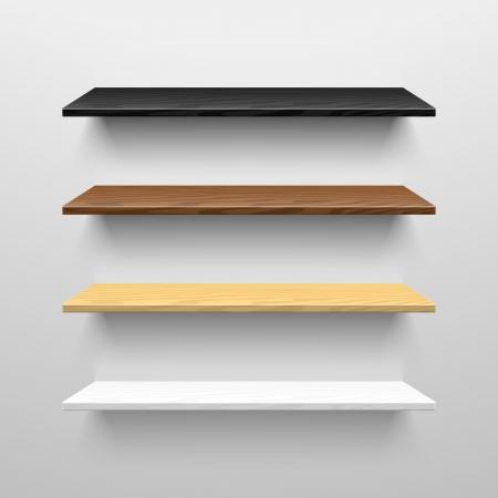Houten planken Stock Illustratie