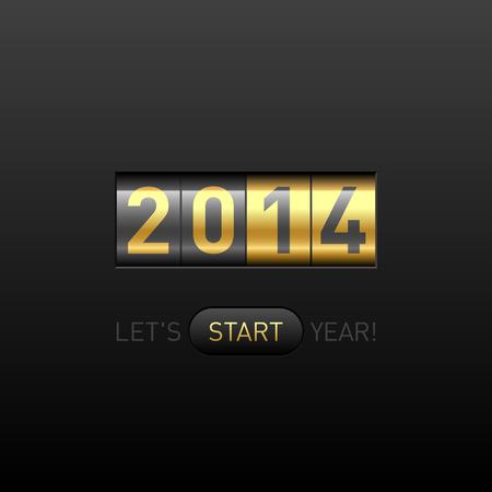 Feliz Año Nuevo 2014 tarjetas Foto de archivo - 23796308