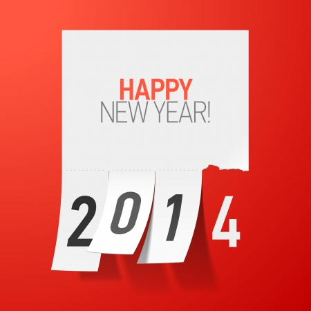 Happy New Year 2014 greetings Stock Vector - 23796316