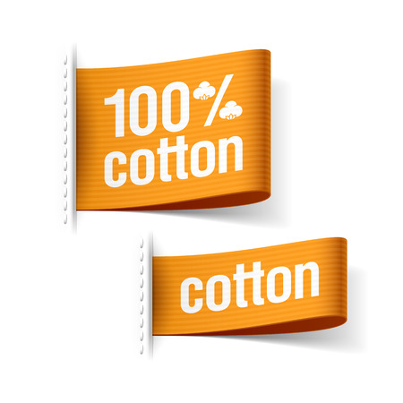 Cotton product clothing labels Stock Vector - 23796327