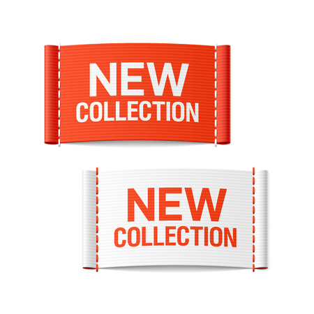 New collection clothing labels Vector