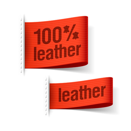 Leather product clothing labels Stock Vector - 23796323