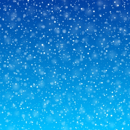 falling: Falling snow  Illustration