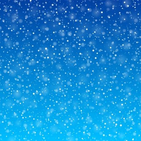 azul: Queda de neve