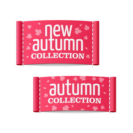 New autumn collection clothing labels Stock Vector - 23796407