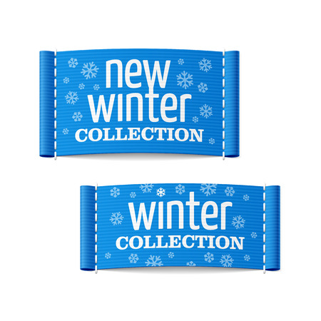 New winter collection clothing labels Stock Vector - 23796411