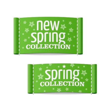春の新作コレクション衣類のラベル
