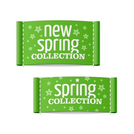 New spring collection clothing labels Stock Vector - 23796409
