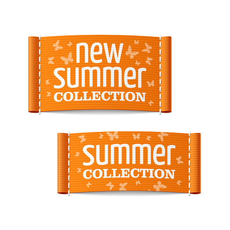 clothing label: New summer collection clothing labels Illustration