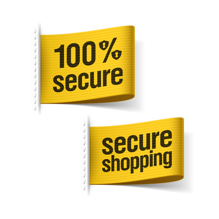 Secure shopping labels Stock Vector - 23796412