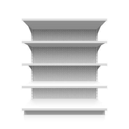 etagere murale: �tag�re de supermarch� vide