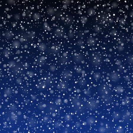 beginnings: Falling snow  Illustration