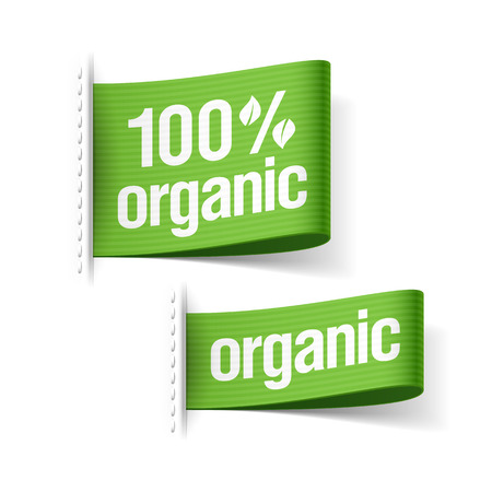 Organic product labels Vector