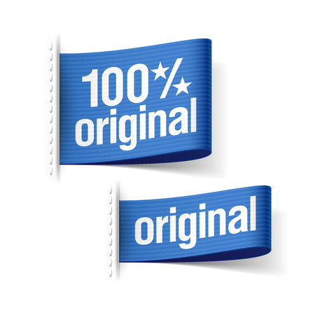 Original product labels Vector