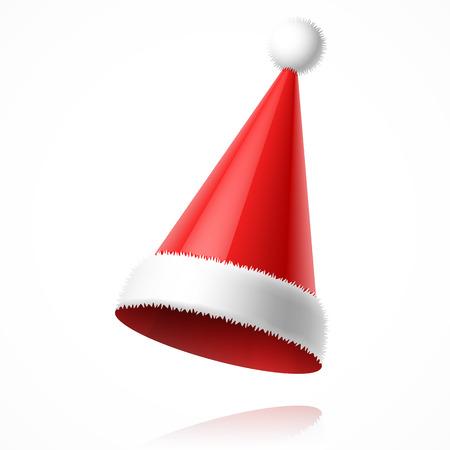 산타 클로스: 산타 클로스 모자 일러스트