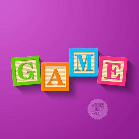 Game - wooden blocks  Vector