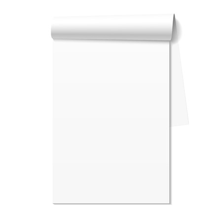 Blank white notepad, notebook Stock Vector - 24158413