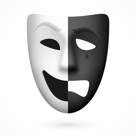 Comedy and tragedy theatrical mask Vector