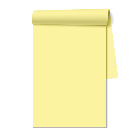 Blank notepad, notebook Vector