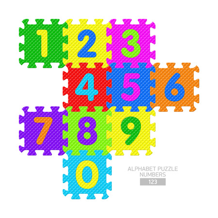 jig saw puzzle: Alphabet puzzle - numbers