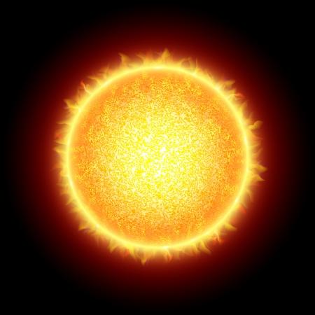 planeten: Sonne Illustration