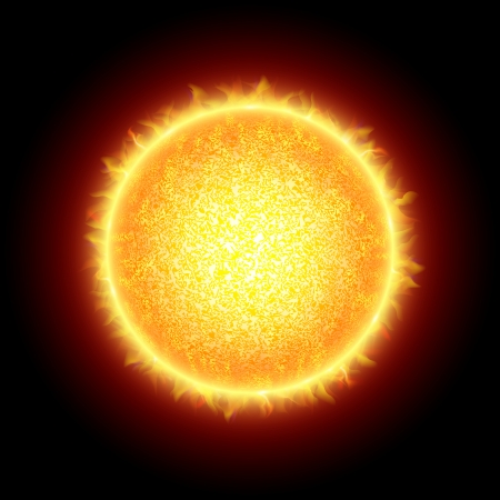 hot surface: Sun Illustration