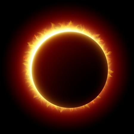 合計: 日食  イラスト・ベクター素材