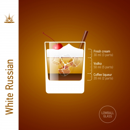 white russian: White Russian cocktail