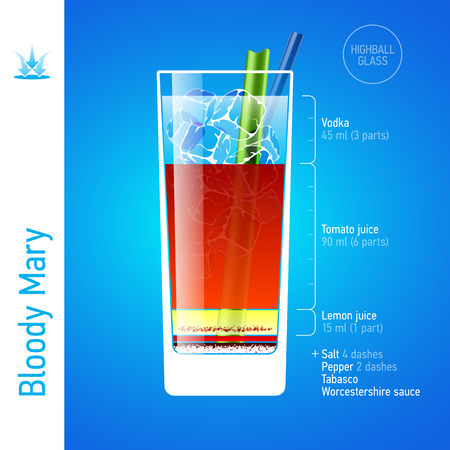 colorful straw: Bloody Mary cocktail