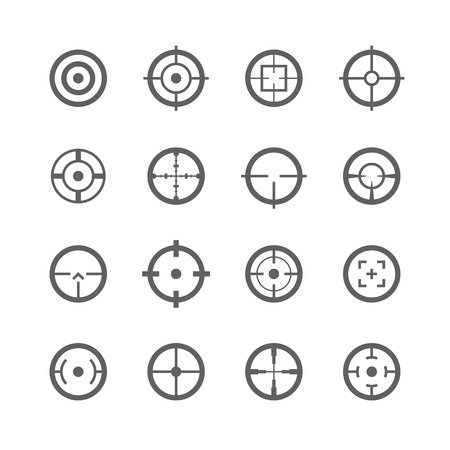 gun sight: Crosshairs icons