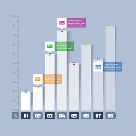 grafica de barras: Gráfico de barras, elementos infográficos gráfico