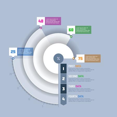 grafica de pastel: Gráfico de sectores, elementos infográficos gráfica circular
