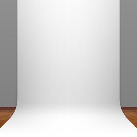Studio blanc du papier toile de fond Banque d'images - 26262468