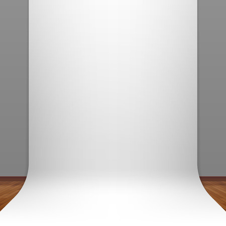 White paper studio backdrop Vector