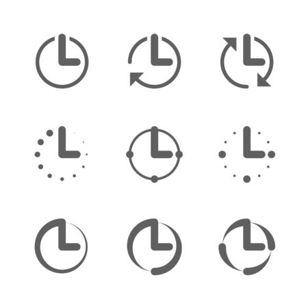 Clock, time icons Vector