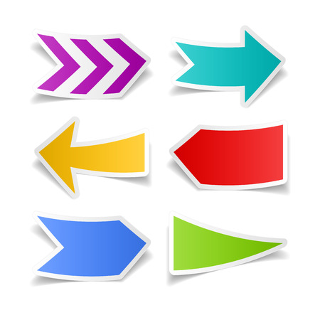 Paper arrows set Vector