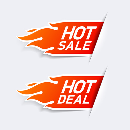 Hot Sale and Hot Deal labels