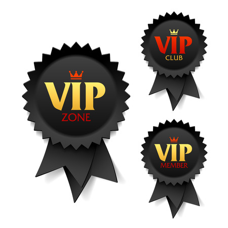 VIP zone, club and member labels Vector