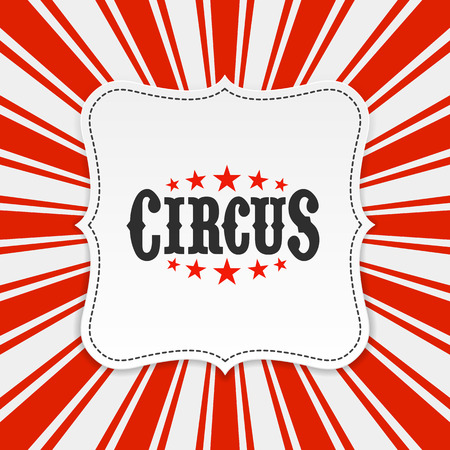 Circus poster achtergrond