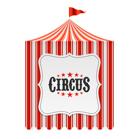 circus arena: Circus tent, poster background Illustration