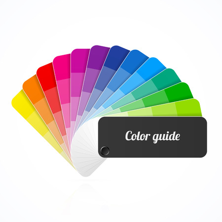 Color palette guide, fan, catalogue Illustration